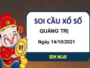 Soi cầu xổ số Quảng Trị ngày 14/10/2021 chốt KQ đài Quảng Trị